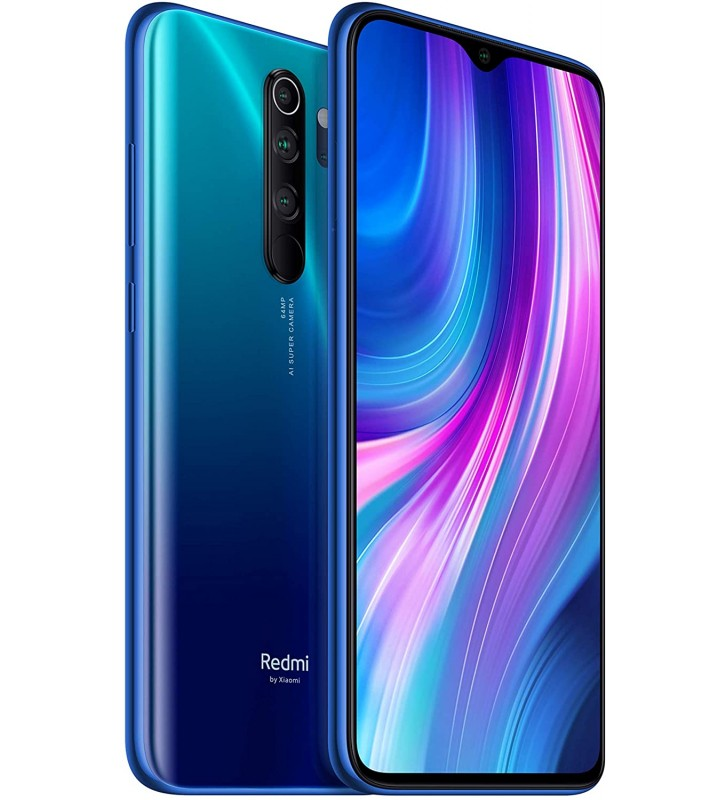 "XIAOMI Redmi Note 8 Pro Blu 128GB 4G / LTE Dual Sim Display 6,53"" Full HD+ Micro SD Fotocamera 64 MP Android - 3"
